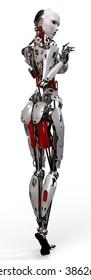 robot woman pinup 3