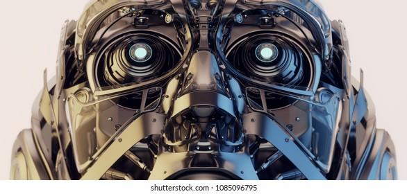 Robotic head, 3d illustration