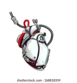 robotic heart illustration