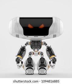 Robotic toy 3d rendering