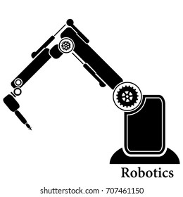 Robotics Robot Hand Robot Icon Stock Illustration 707461126