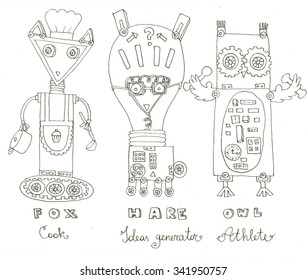 robots coloring page 260nw
