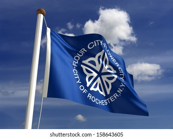 Rochester City flag (isolated with clipping path)