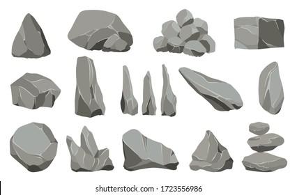 Rock stones. Graphite stone, coal and rocks pile