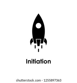 rocket, initiation icon. One of business icons for websites, web design, mobile app on white background