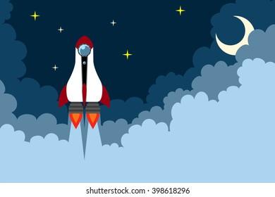 Rocket starting illustration