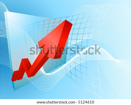 Rocketing profits. A conceptual background based on a graph soaring profits. Raster version
