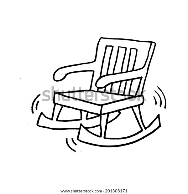 Outstanding Rocking Chair Cartoon Stock Illustration 201308171 Machost Co Dining Chair Design Ideas Machostcouk