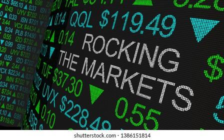 Rocking the Markets Turmoil Economy Stock Business Trouble 3d Illustration