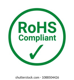 RoHS compliant sign with a white background