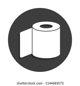 roll of toilet paper icon in Badge style with shadow