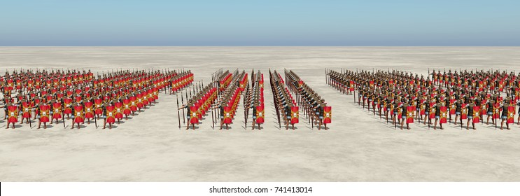 Roman army Computer generated 3D illustration