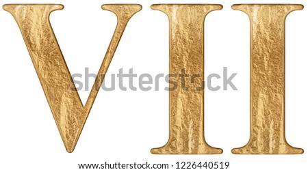 Roman Numeral Vii Septem 7 Seven Stock Illustration 1226440519