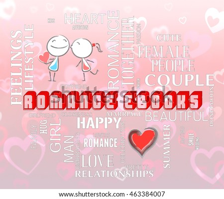 Romance Ebooks Indicating Find Love Lover Stock Illustration