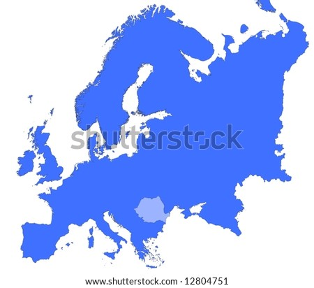 Romania Location Europe Map Mercator Projection Stock Illustration ...
