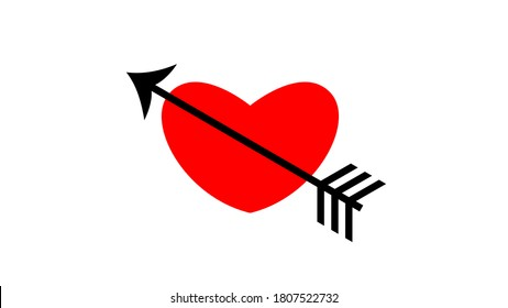 romantic heart love arrow cupid valentine symbol