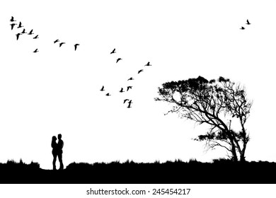 Romantic image of a couple in love