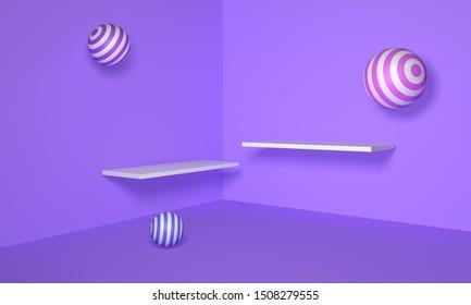 Romantic Tanabata Balloon Purple Stereo Scene Home