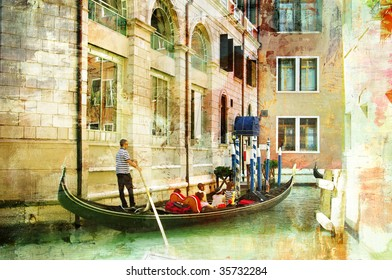 romantic Venice- artwork in painting style