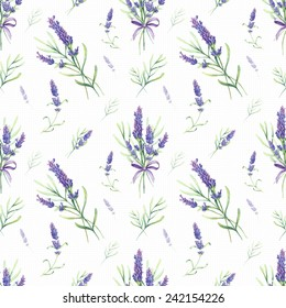 Romantic vintage pattern with Provence lavender flowers