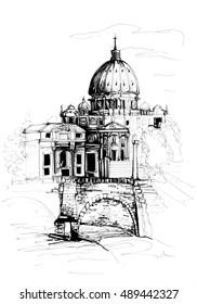 Rome city sketch