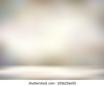Room 3d illustration. White beige grey wall and floor. Empty background. Abstract texture. Blurred interior. Defocused pattern.