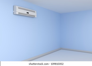 Room cooled with air conditioner