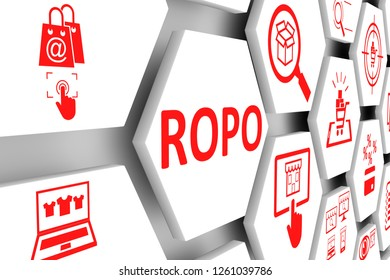 ROPO concept cell background 3d illustration