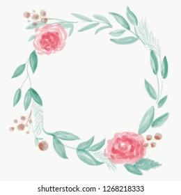 Rose Flower Wreath