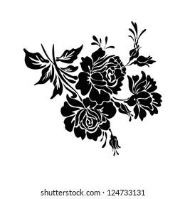 rose motif design sketch