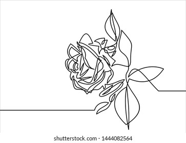 Rose one line art. Flower icon.symbol for website design