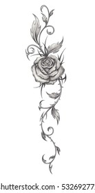 Tattoo Sketch Images Stock Photos Vectors Shutterstock Are tattoo drawings something that you want to do? https www shutterstock com image illustration rose tattoo hand pencil drawing on 532692772