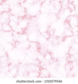 Rose white marble texture with pink glitter details. Illustration for invitation, print, interior design template.