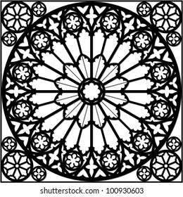 rose window/ gothic /illustration