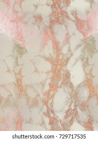 Rosegold marble seamless background. Repeating shiny, glitter and glossy effect for an elegant and feminine wallpaper.