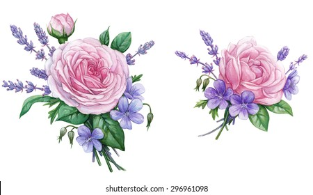 Roses & lavender 2