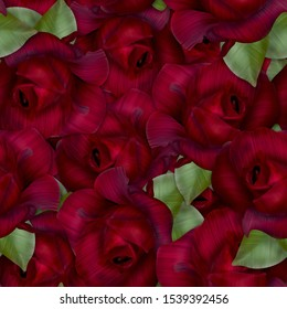 Roses pattern. Seamless background. Flowers. Beautiful roses.