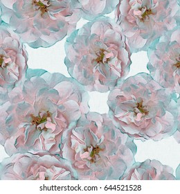 Roses.Seamless background. Flowers. Stylization: watercolor.
