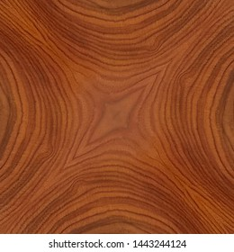 rosewood veneer panel board, bright bright with abstract symmetrical centered grain pattern