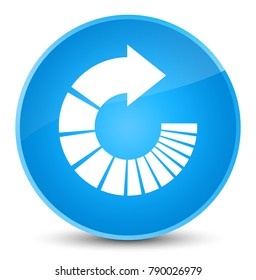 Rotate arrow icon isolated on elegant cyan blue round button abstract illustration
