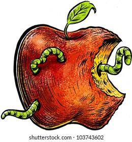 rotten apple images stock photos amp vectors shutterstock