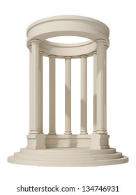 rotunda on a white background