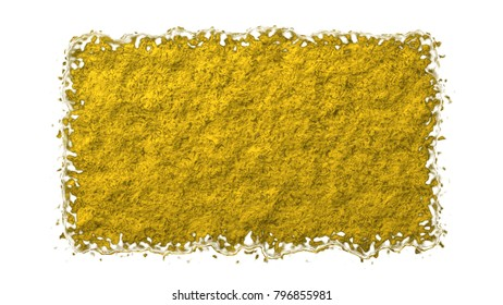rough golden brown stone tough texture isolated on white background. abstract grungy tough surface for creative designs