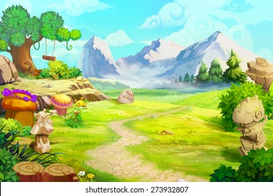 Rough Path to the Mountain - Scene Design