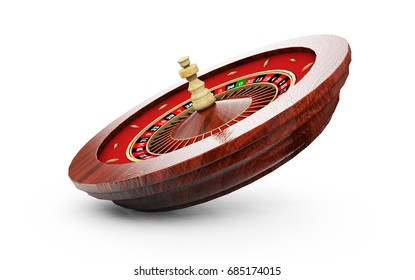 Roulette wheel. 3d render image. Isolated white background.