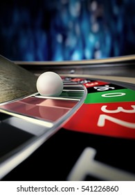roulette wheel in online casino - 3D rendering