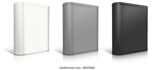 Round box. Software box on white background.