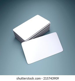 Round business cards blank mockup