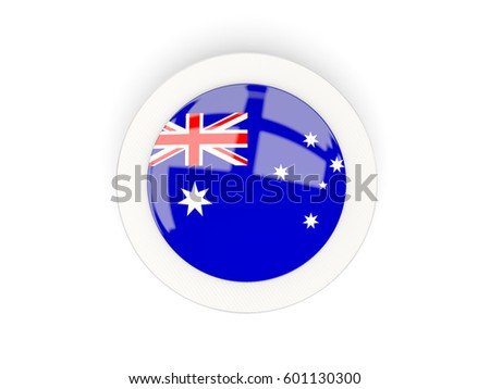 Round Flag Australia Carbon Frame 3 D Stock Illustration 601130300 ...