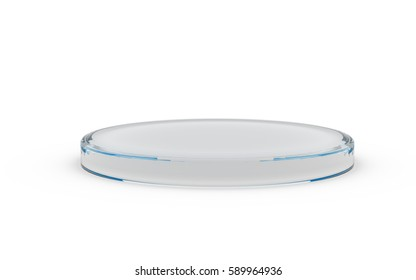 round glass stand for products display by 3D rendering